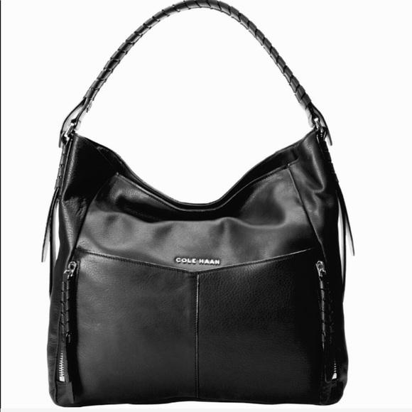 d72fd71c4519 👛Cole Haan Large Black Felicity Hobo Purse👛
